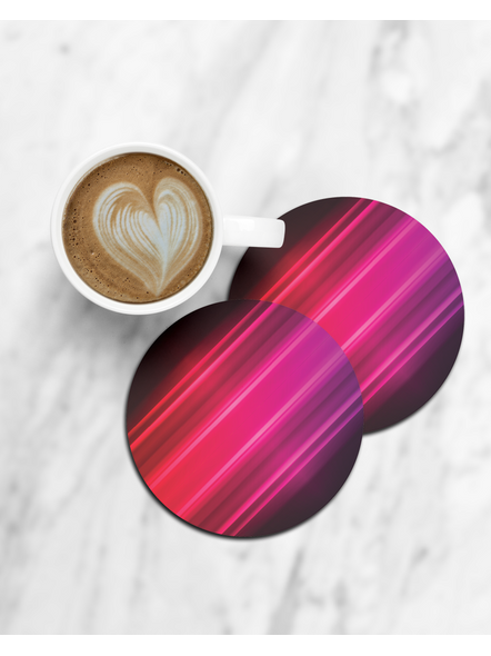 Colorful Lights Pattern Round Coaster-CCOSTER0017