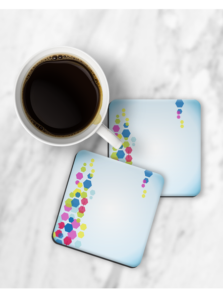 Colorful Blocks Patterns Printed Square Coaster-RCOSTER0002