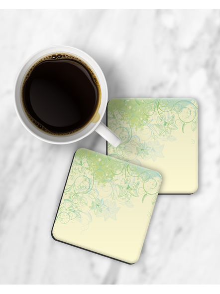 Natural Pattern Printed Square Coaster-RCOSTER0005