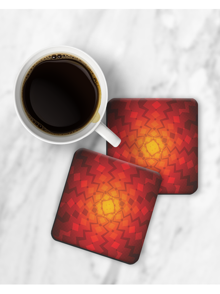 Fire Inside View Printed Square Coaster-RCOSTER0007
