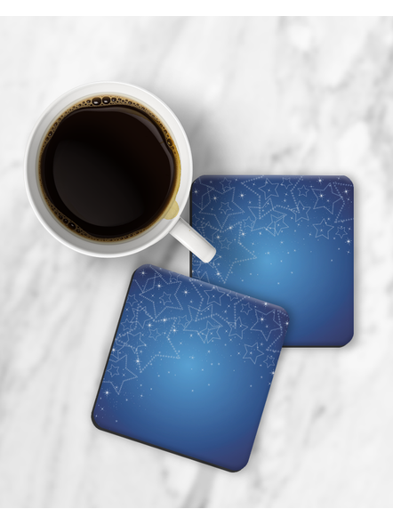 Shining Stars Printed Designer Square Coasters-RCOSTER0015