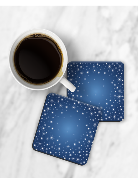 Sky Stars Printed Square Coasters-RCOSTER0016