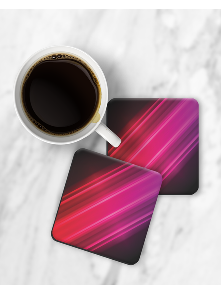 Colorful Lights Pattern Square Coaster-RCOSTER0017