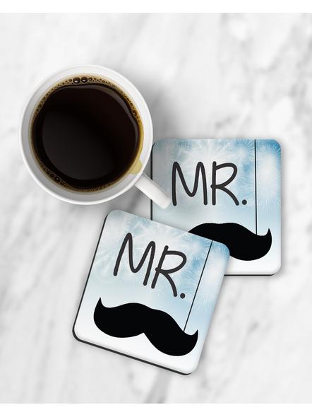 Mr. Printed Designer Square Coaster-RCOSTER0031