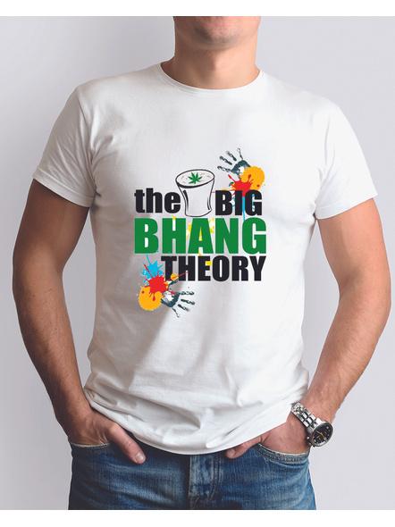 Holi Bhang Round Neck Dri Fit Tshirt-RNECK0001-White-XXXL-46-48