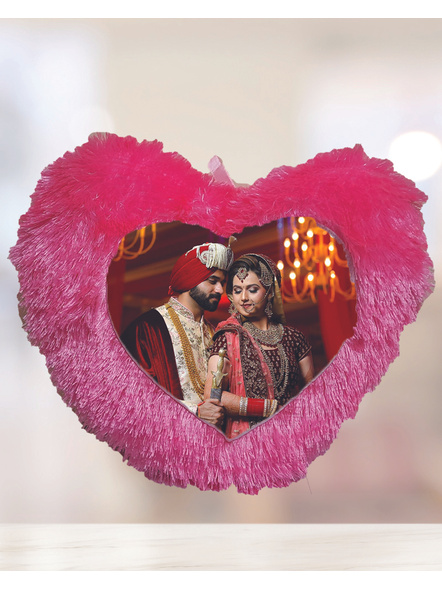 Customized Pink Heart Cushion-HeartPink01