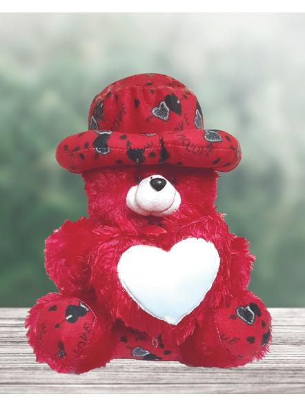 Teddy Bear Cushion with Photo on Heart-Teddycus001