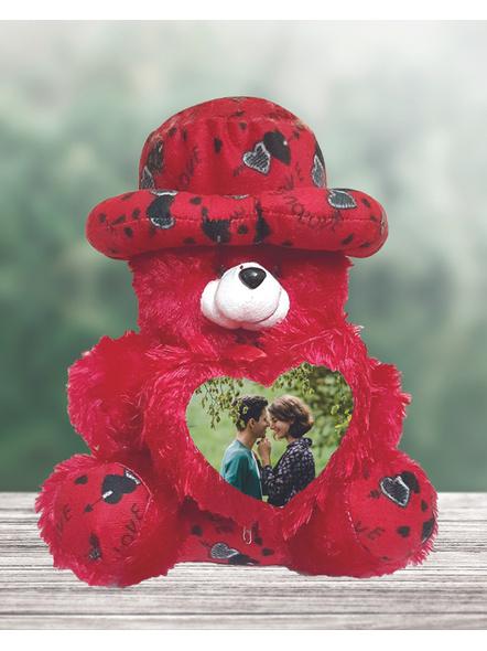 Teddy Bear Cushion with Photo on Heart-1