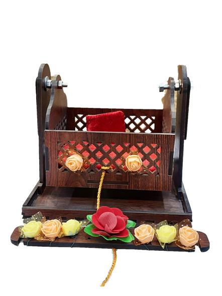 Wooden Adjustable Jhula for Kanha Ji-3