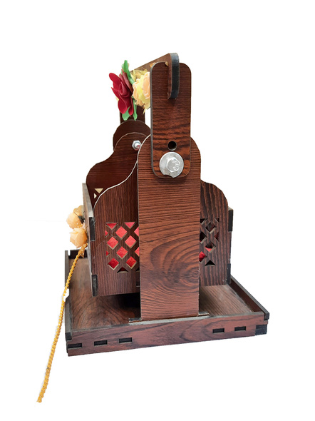 Wooden Adjustable Jhula for Kanha Ji-2