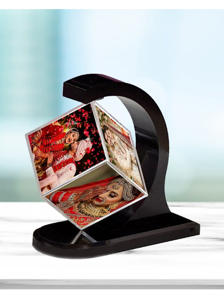 Magnetic Rotating Cube with 4 Photos-Magcube001a