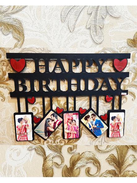 Happy Birthday 5 Photos Wooden Frame-Birthdayframe01