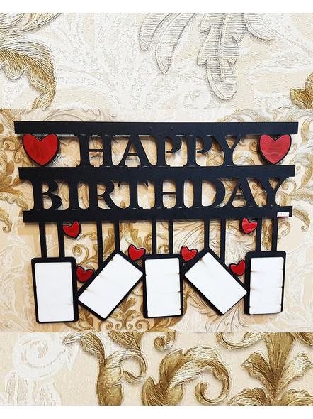 Happy Birthday 5 Photos Wooden Frame-1