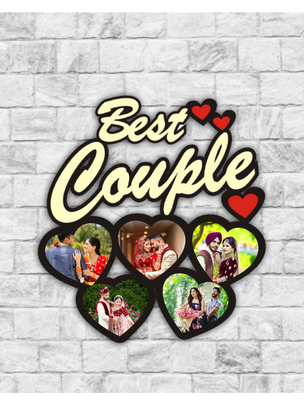 Best Couple Frame with 5 Pics in Heart-Anniv010-19-17
