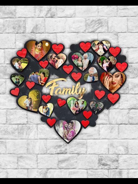 15 Photos Hearts Collage Wooden Frame-Anniv008-18-18