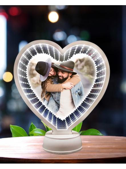 3D Heart Shape Magic Mirror-Anniv014-8Inches