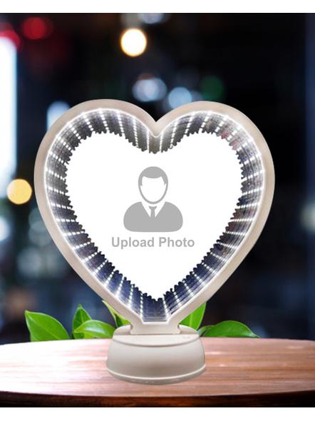 3D Heart Shape Magic Mirror-8 Inches -2