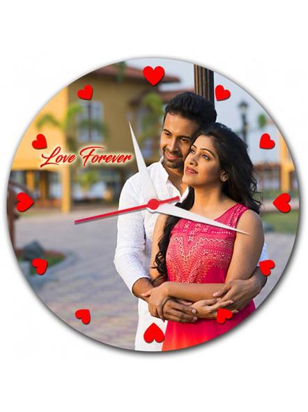 Personalized Photo Round Clock-Anniv019-8-8
