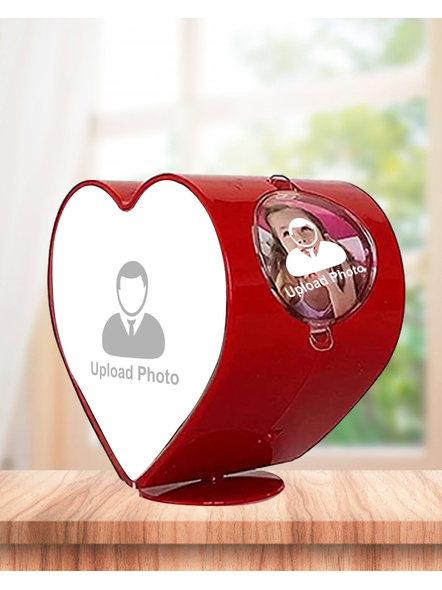Rotating Heart 4 Photos Table Stand-5*5 Inches-3