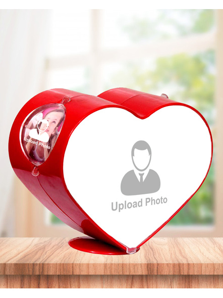 Rotating Heart 4 Photos Table Stand-5*5 Inches-4