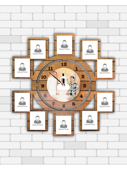 11 Photo Wall Clock Collage-12*12 Inches-1