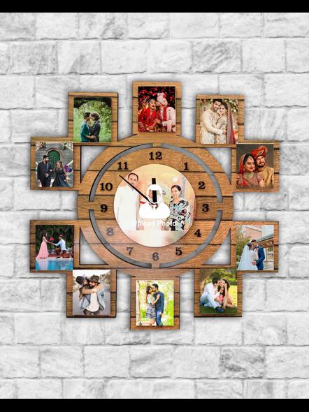 11 Photo Wall Clock Collage-Bir0005-24-24