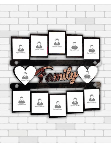 12 Photo Family wooden frame-14*14 Inches-1