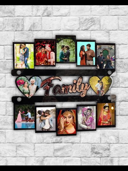 12 Photo Family wooden frame-Bir0006-18-18