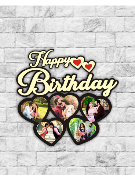 Best Couple 5 Hearts personalized Anniversay Frame-Bir0012-19-17