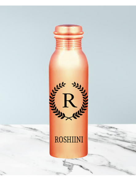 Personalized Copper Bottle with Photo-Bir0018-1Litre