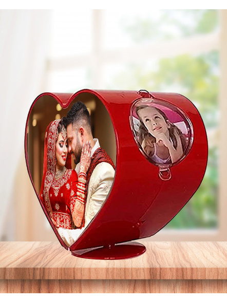 Rotating Heart 4 Photos Table Stand-5*5 Inches-1