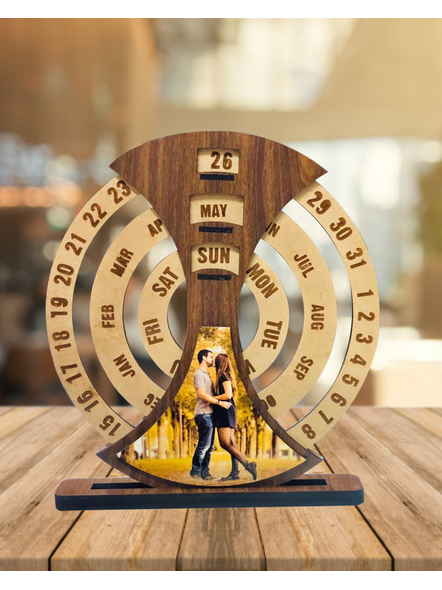 Customized Never Ending Wooden Calender-Frndfrm00812x12