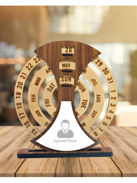 Customized Never Ending Wooden Calender-8Inches-1