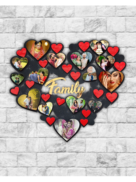 15 Photos Hearts Collage Wooden Frame-Famfrm00318x18