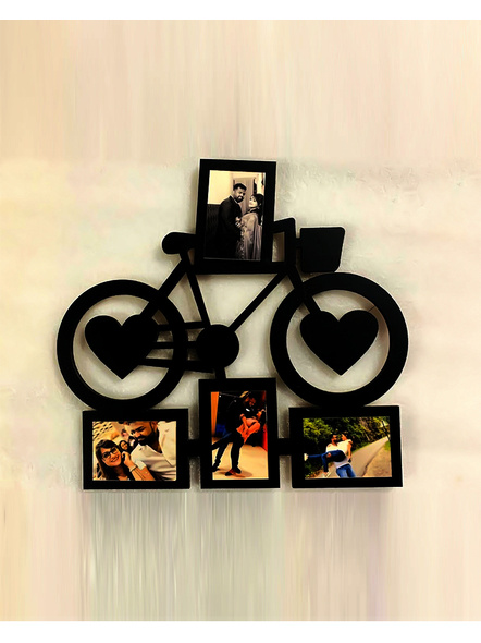 Bicycle Frame with 4 Photos-Anniv043-10-10