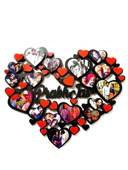 Heart Collage Frame 17 Photo-Anniv059-14-14