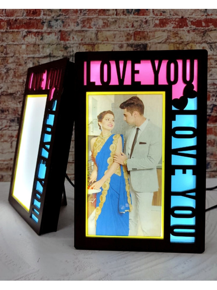 I Love You LED Frame 1 Photo-Anniv050-6-8