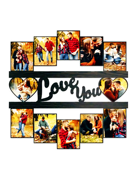 Love You Frame with 12 Photos-Anniv040-18-18