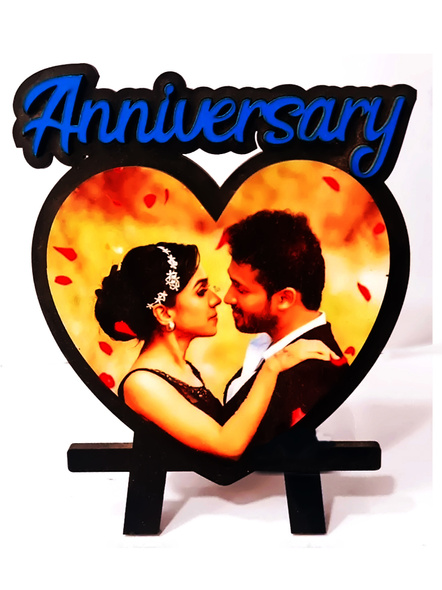 Personalized Anniversary Table Stand Heart Shaped-Anniv024-7-7