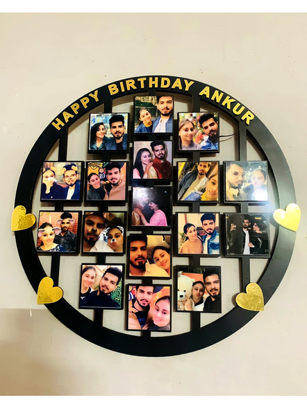 Circle 17 Pcs Frame for Birthday, Anniversary and for all occasions-Famfrm020-14-14