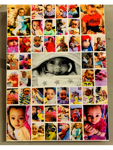 Family Wooden Collage 45 Photos-Famfrm029-12-18