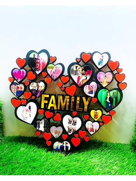 Happy Family Frame Heart Shaped-Famfrm033-16-16