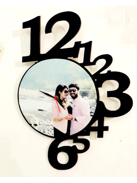 Clock Frame with 1 Photo-Frndfrm026-12-18
