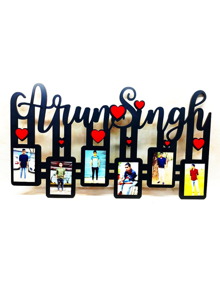 Name Frame with 6 Photos-Frndfrm046-8-12