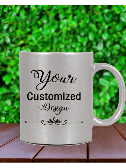 Personalized Silver Mug with Text and Quote-Frndfrm050--