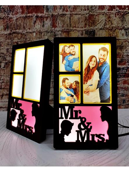 Mr. and Mrs Wooden LED Frame-LEDFRM008-6-8