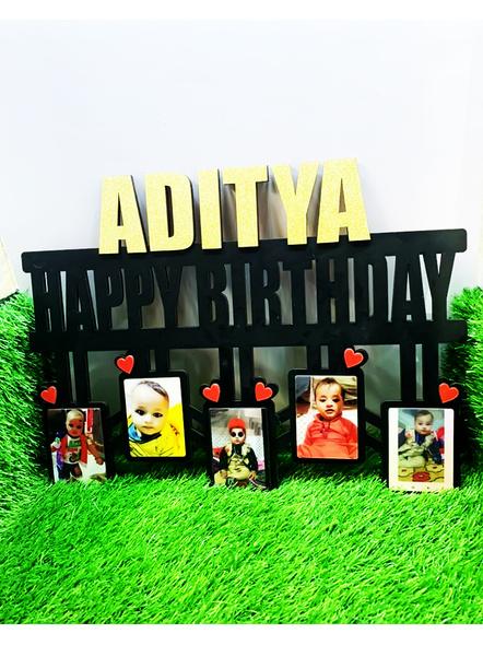 Happy Birthday Name Frame 5 Photos-ptofrm024-12-18