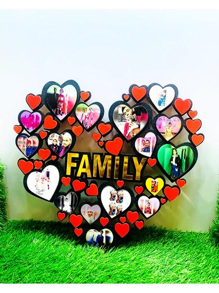 Happy Family Frame Heart Shaped-ptofrm046-16-16