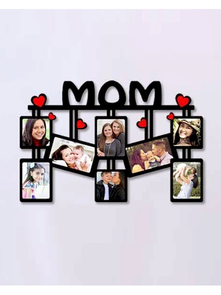 Mom Wooden Collage 8 Photos-ptofrm058-12-18