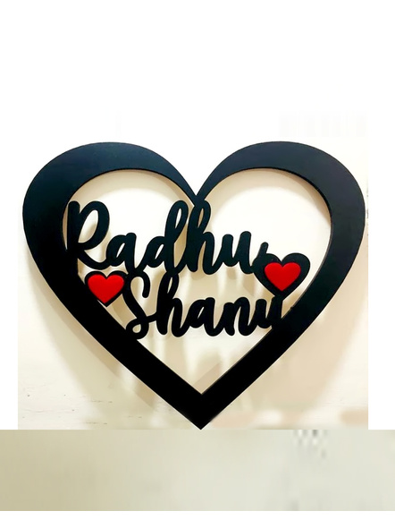 Heart Shape Name Plate-Valfrm074a-14-14